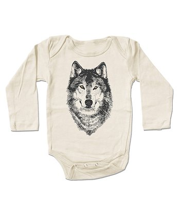 Cream Wolf Organic Bodysuit - Infant