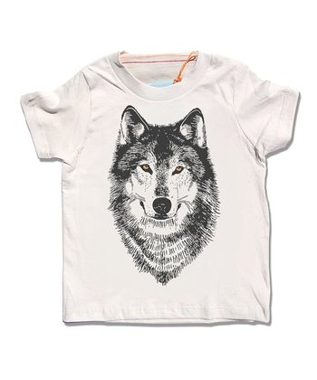 Cream Wolf Organic Tee - Infant & Kids