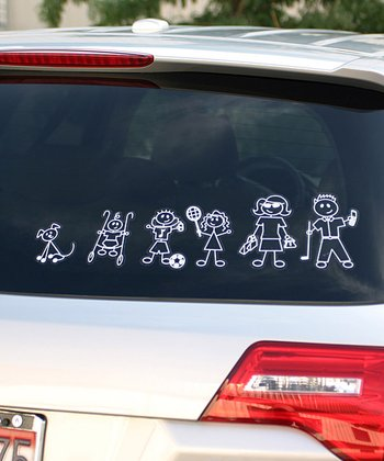 Family Stickers Family Car Decal Set
