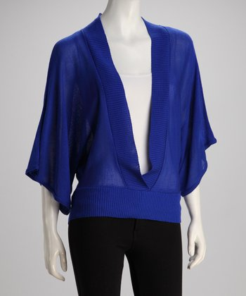 Blue Dolman Top