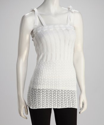 White Crocheted Dress