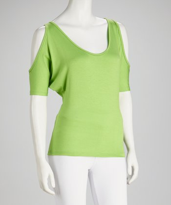 Green Cutout Top - Women