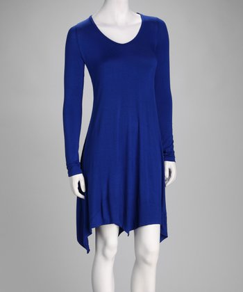 Royal Blue Handkerchief Dress