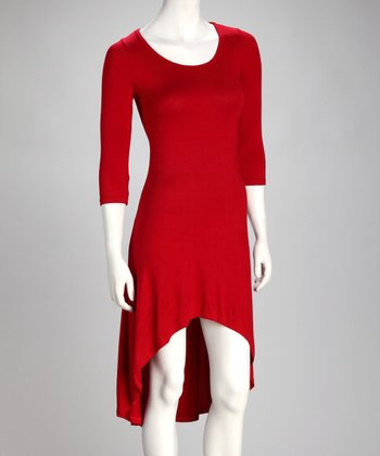 Red Hi-Low Dress