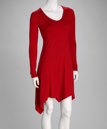 Red Handkerchief Dress