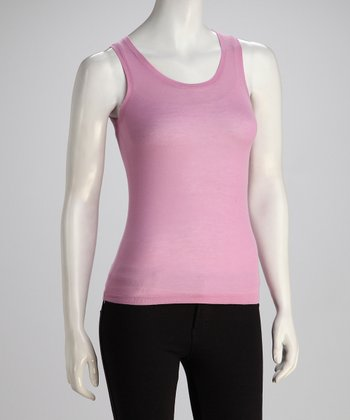 Lilac Scoop Neck Knit Tank