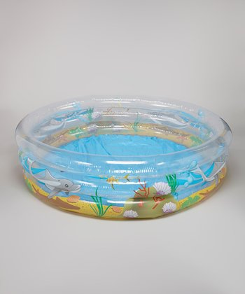 Yellow & Blue Sea Life Inflatable Pool
