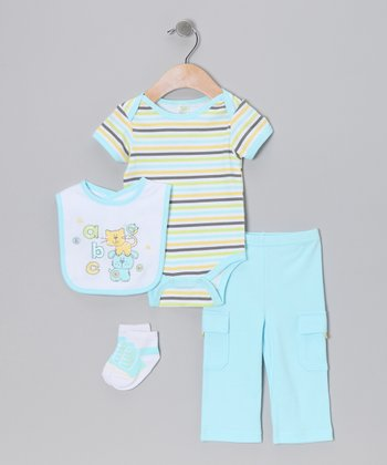 Blue 'ABC' Layette Set