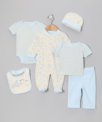 Blue Dog 6-Piece Layette Set
