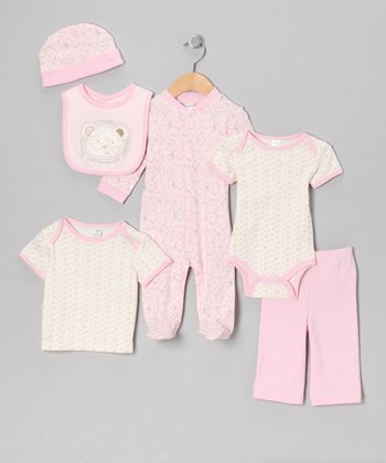 Pink I'm the Sweetest Bear 6-Piece Layette Set