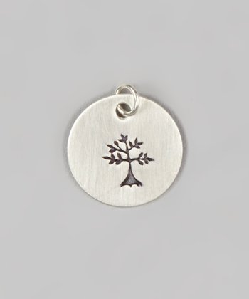 Sterling Silver Family Tree Round Charm