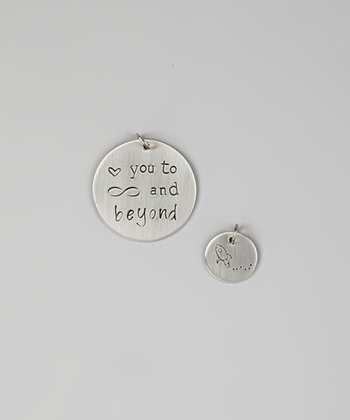Silver 'Love You to Infinity and Beyond' Charm Set