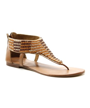 Natural Beaded Heat Up Sandal
