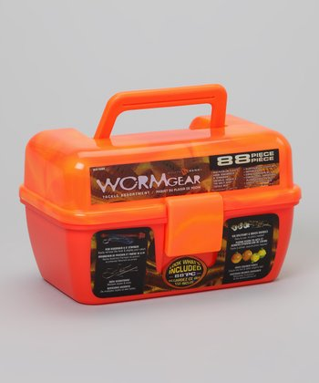 Orange Wormgear Tackle Box