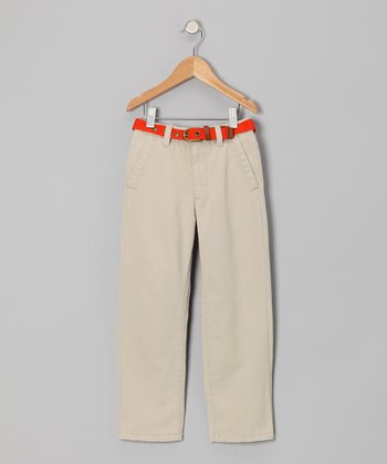 Taupe Chino Pants - Boys