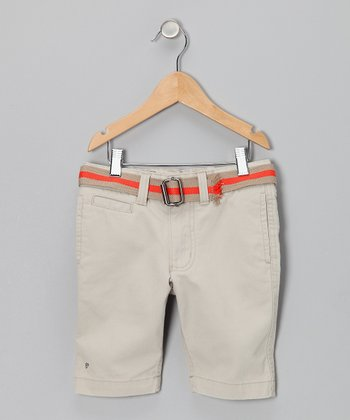 Taupe Chino Shorts - Boys