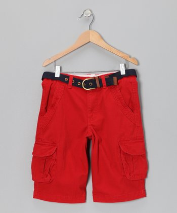 Barn Red Cargo Shorts - Boys