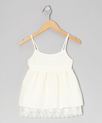 Porcelain Pansy Eyelet Tank - Toddler & Girls