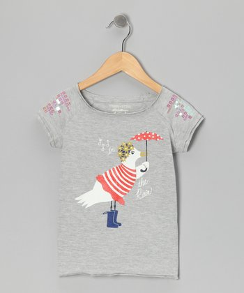 Heather Umbrella Seagull Tee - Toddler & Girls