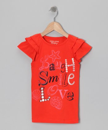 Blossom Tier-Sleeve Handmade Tee - Toddler & Girls