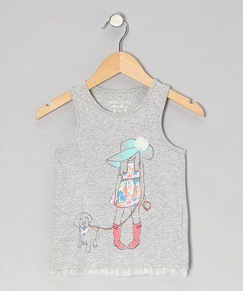Heather Gray Wish Tank - Toddler & Girls