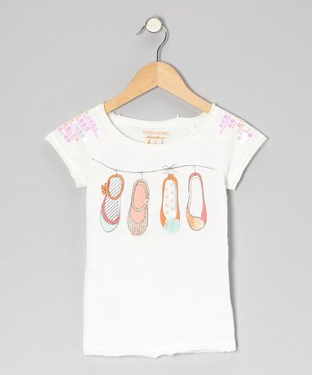 Porcelain Shoe Tee - Toddler & Girls