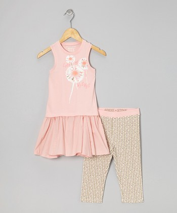 Light Pink Azalea Tunic & Leggings - Toddler & Girls