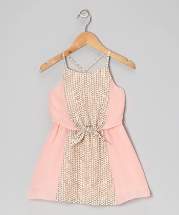 Light Pink Peony Dress - Girls