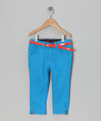 Blue & Orange Yacht Capri Pants - Toddler & Girls