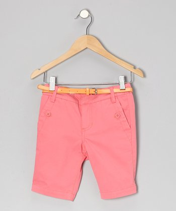 Petunia Hyacinth Bermuda Shorts - Girls
