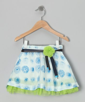 Porcelain & Green Anchorage Skirt - Toddler & Girls