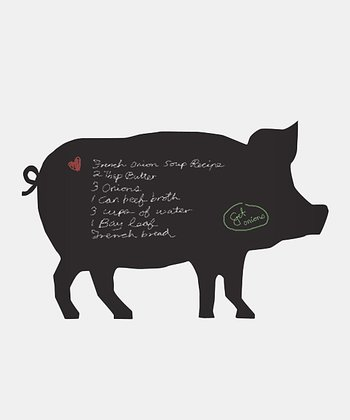 Piggy Chalkboard Wall Decal