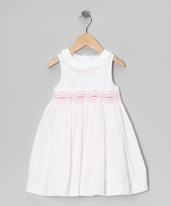 Light Pink Stripe Smocked Dress - Infant & Toddler