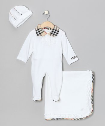 White Three-Piece Playsuit Set - Infant
