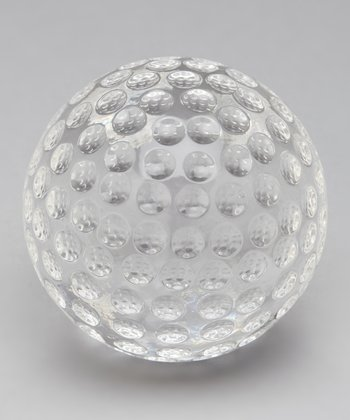 Crystal Golf Ball Keepsake