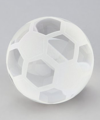Crystal Soccer Ball Keepsake