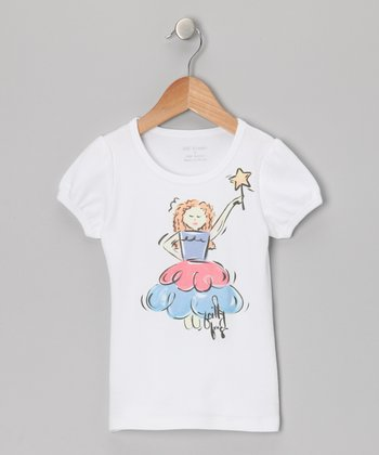 White & Blue Fairy Tee - Infant, Toddler & Girls