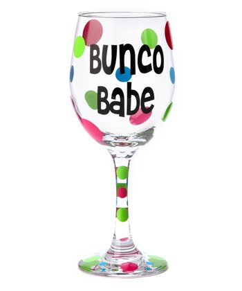 'Bunco Babe' Wine Glass