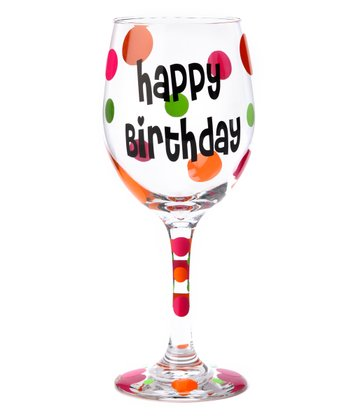 'Happy Birthday' Wine Glass