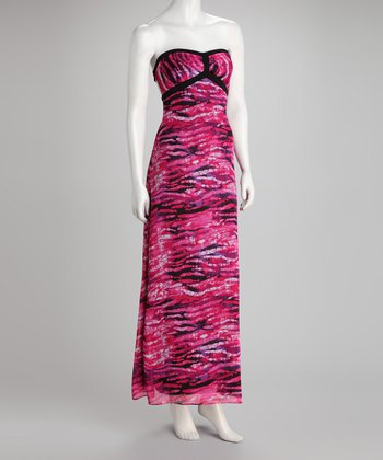 Purple Jungle Azria Chiffon Maxi Dress