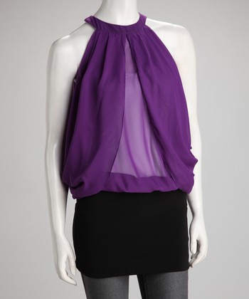Purple Coco Sheer Tunic