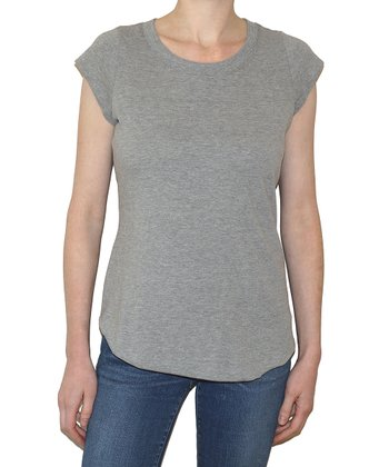 Heather Cap-Sleeve Tee