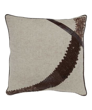 Wheat & Brown Slope Leather Pillow