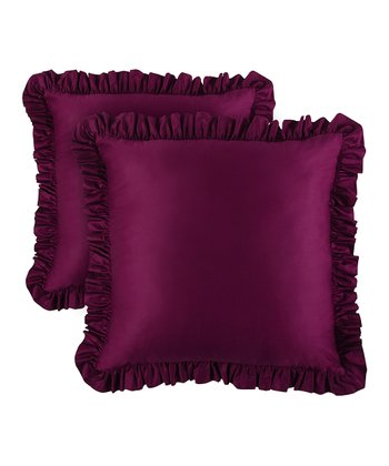 Purple Summertime Euro Sham - Set of Two