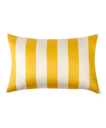 Golden Yellow Stripe Kenya Pillow