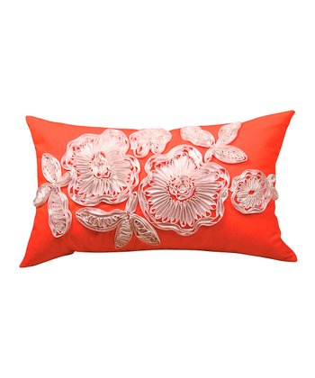 Orange Ikat Sandy Wilson Decorative Pillow