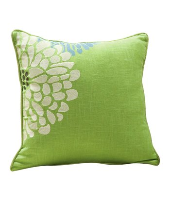 Lime Green Fresca Sandy Wilson Linen-Blend Decorative Pillow