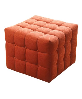 Orange Rust Bella Sandy Wilson Ottoman