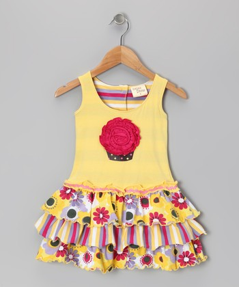 Yellow Blossom Cupcake Dress - Toddler & Girls