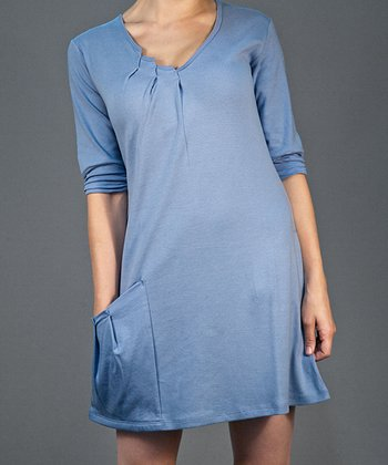 Forever Blue Pocket Shift Dress
